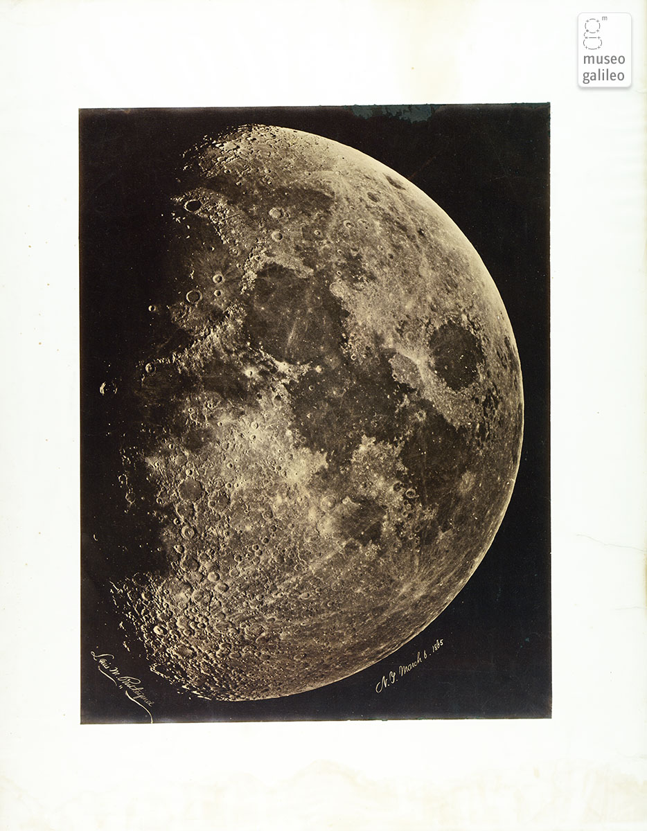 Picture of the Moon (L.M. Rutherford, 1865)