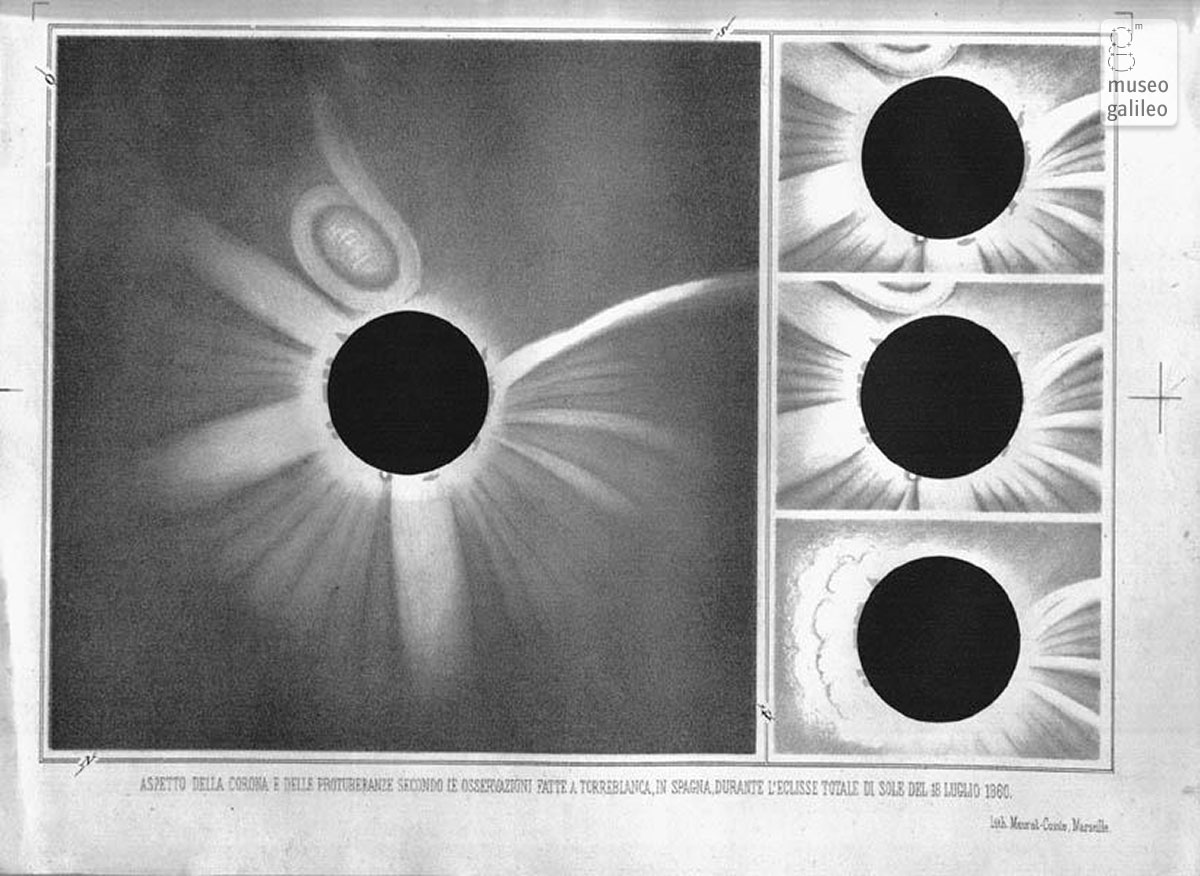 The solar eclipse of 1860