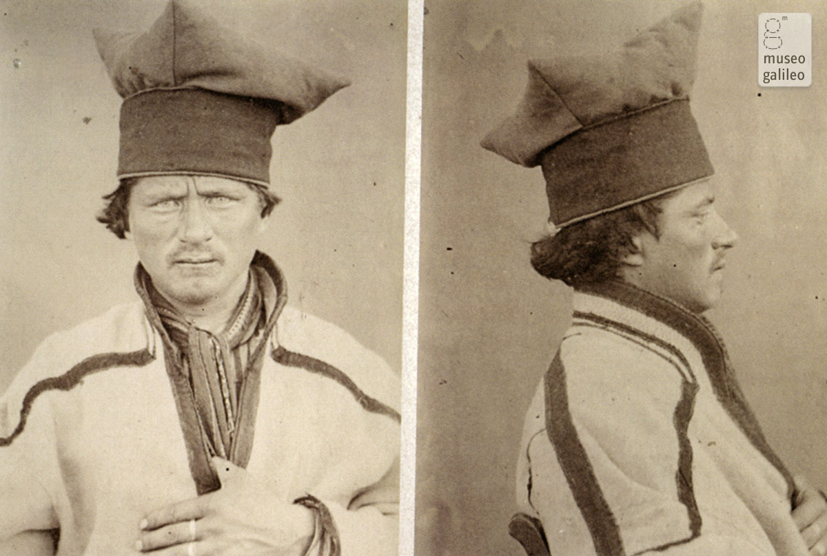 Portrait of a Laplander for anthropological study (1879)