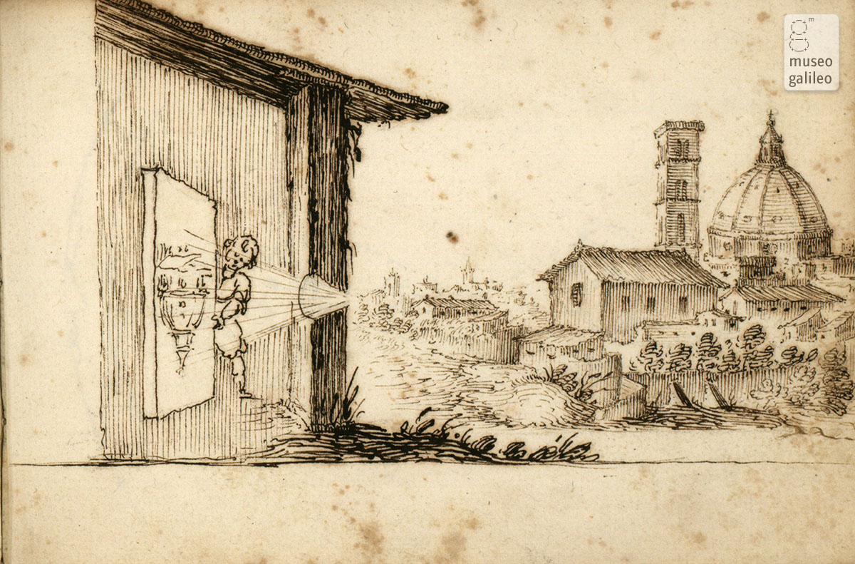 Image of the Florence Dome created by a camera obscura (17th century)