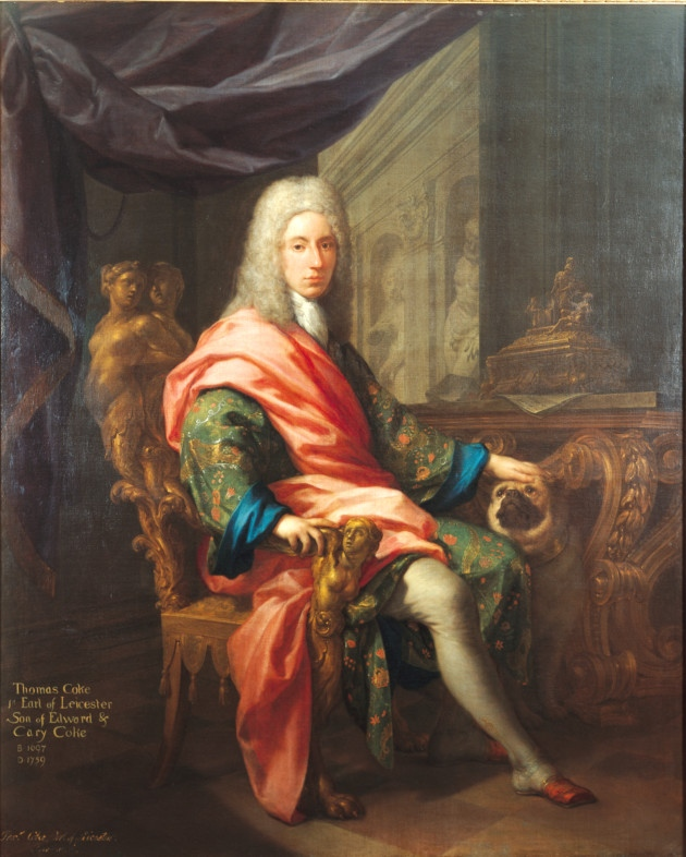 Francesco Trevisani, Portrait of Thomas Coke, First Earl of Leicester, 1717, Holkham Hall.