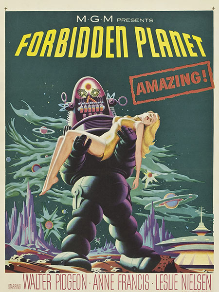 Poster del film Forbidden Planet.