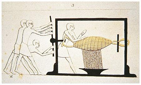 Museo galileo vinum torchio egizio for Planimetrie di 2000 piedi quadrati una storia