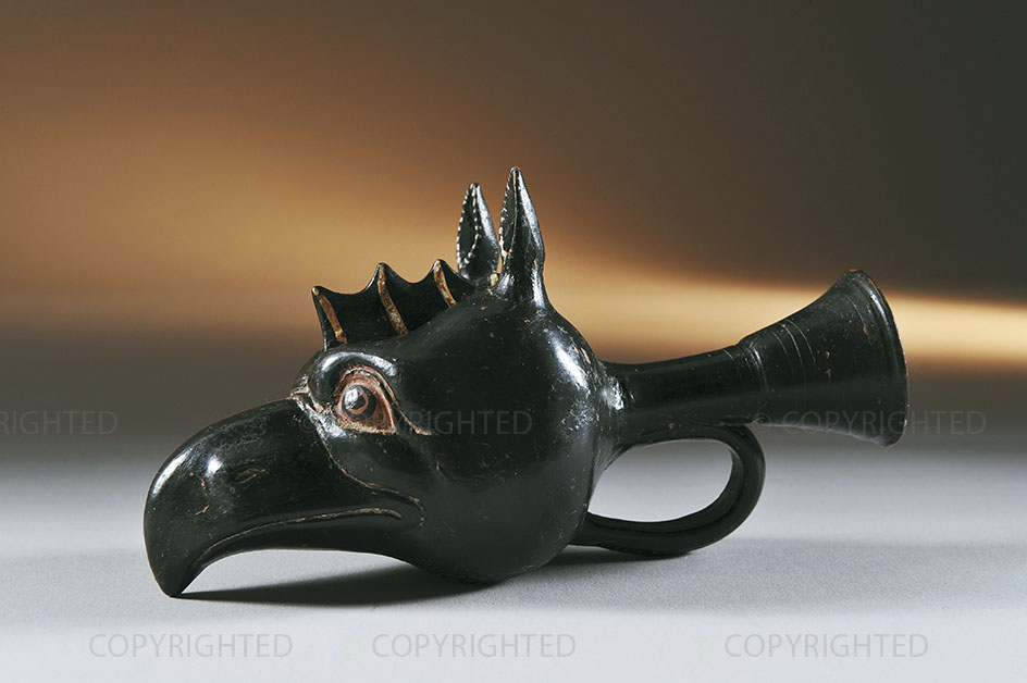 Rhyton a protome di grifo a figure rosse
