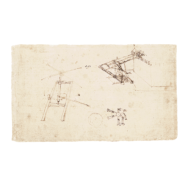 Leonardo da Vinci - Codex Atlanticus (BAM), f. 1117rb - Perpetual overbalanced wheel
